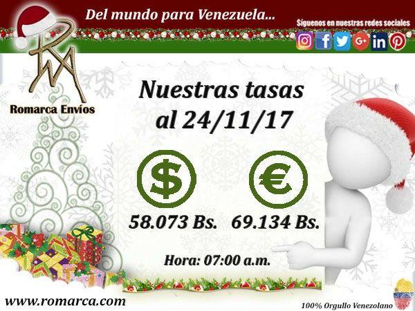 🌼 ¡Feliz viernes! 👉🏻💰Romarca te ofrece nuestras tasas de cambio a las 7:00am 🕙 Este #Usa 🔛 #Venezuela. 📨En nuestro sitio web además de encontrar información de interés 📲 también podrás dejarnos saber tus comentarios sobre nuestro servicios. #Uruguay #España #Colombia #Ecuador  #Londres #Portugal #Andorra #Noruega #Ecuador #Argentina #Usa  #Aruba #PuertoRico