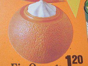Das Orangeneis von Schöller. War lecker!