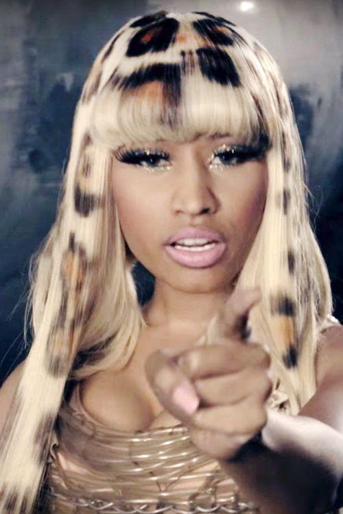 Nicki Minaj in Leopard Print Hair
