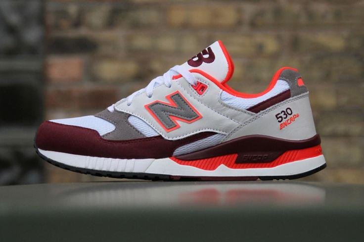 New Balance 530 '90s Running Remix White/Burgundy/Orange
