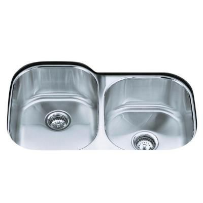 Kohler Undertone Undermount Stainless Steel 31 In Double Basin Kitchen Sink