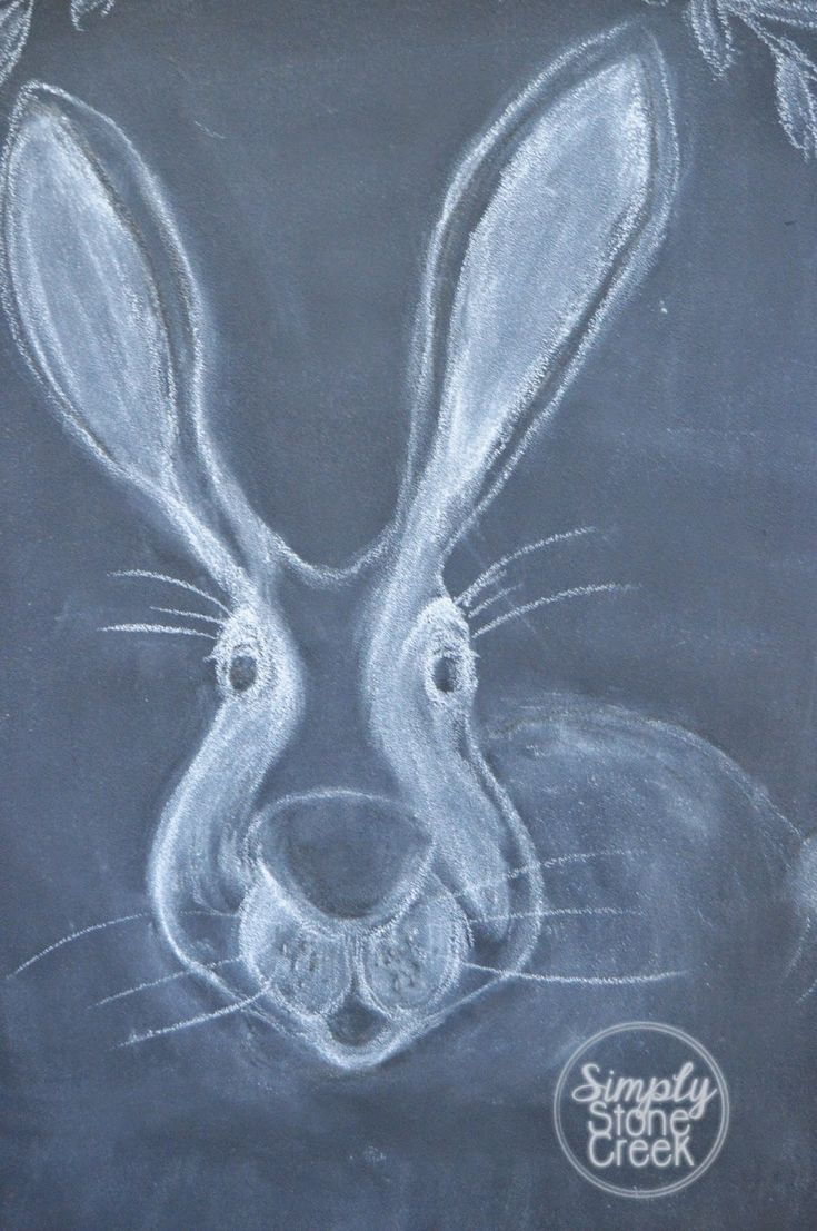 Simply Stone Creek : Some Bunny Is Ready For Spring! -- A Little Chalkboard Art --