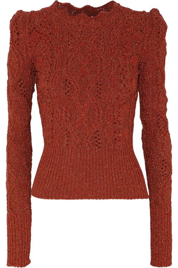 Metallic cable and open-knit sweater | ISABEL MARANT | Sale up to 70% off | THE OUTNET