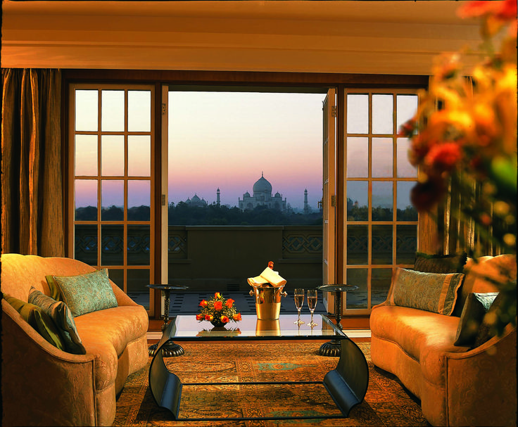 The Oberoi Amarvillas has been designed to give guests breathtaking views of the Taj Mahal from each of its 102 guest rooms and suites.