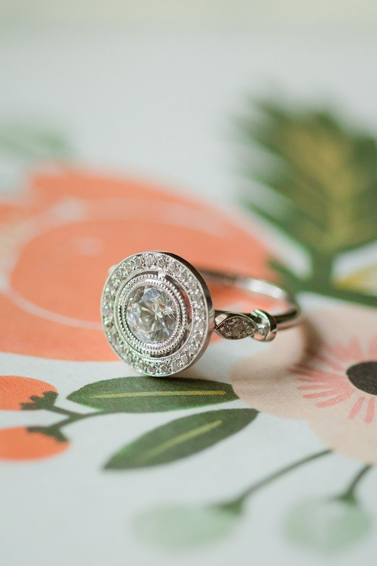 Halo Diamond Engagement Ring @jamesallenrings Item #17119p