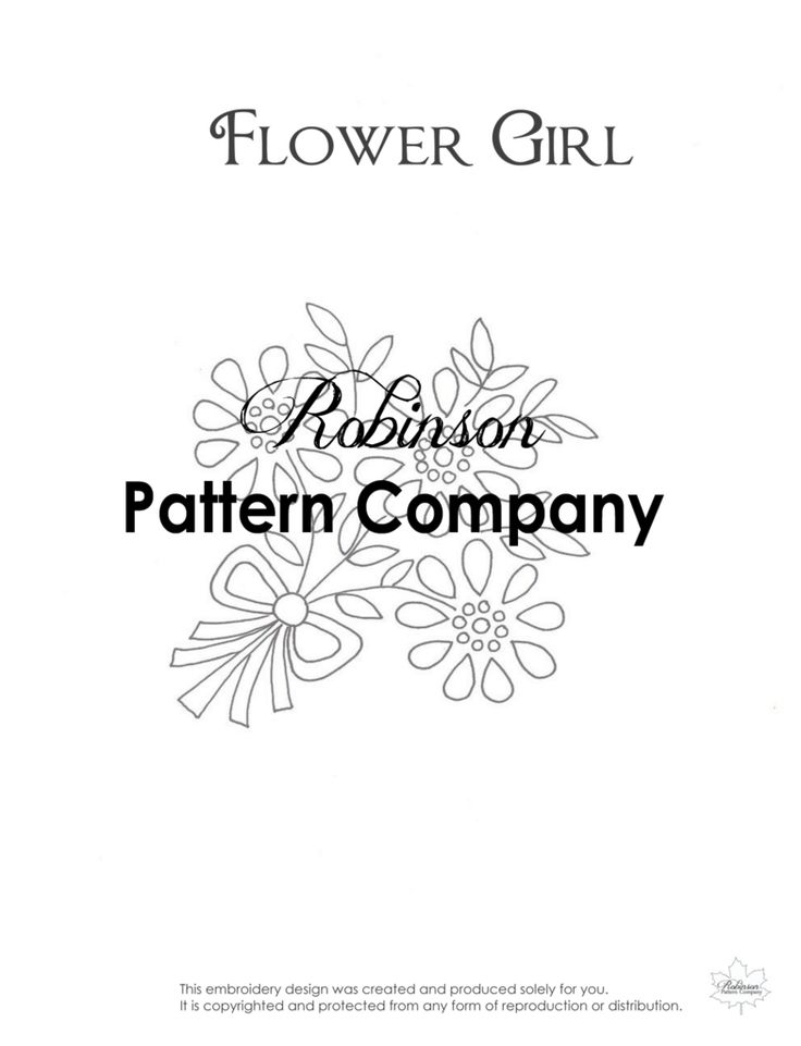 Flower Girl Hand Embroidery pattern