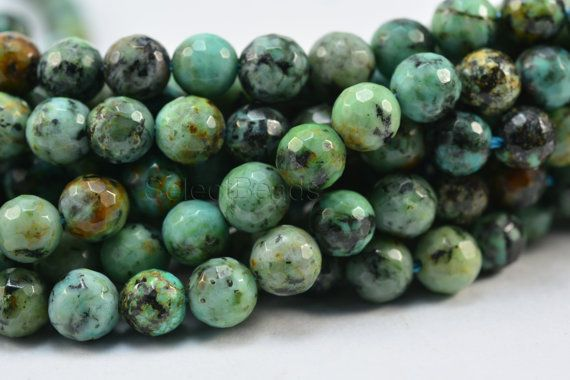 African turquoise facet round 6mm African turquoise by SelectBeads