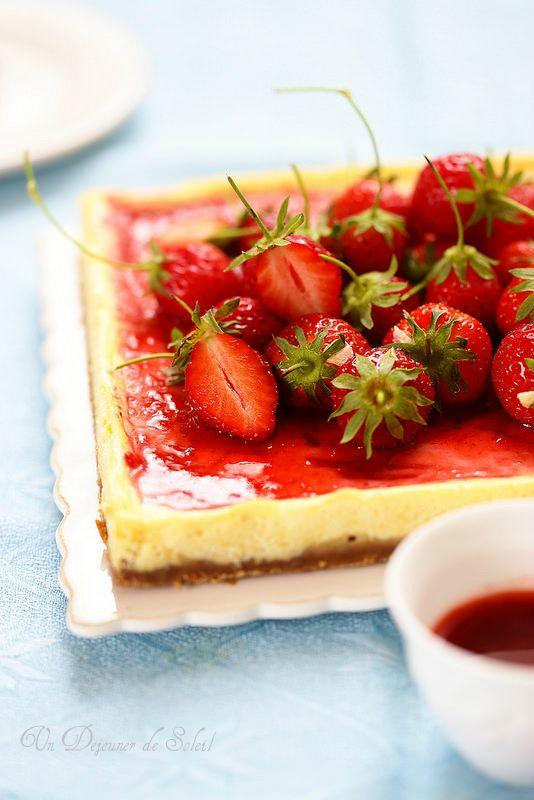 Cheesecake au yaourt et aux fraises