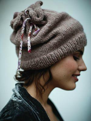 modèle tricot bonnet femme