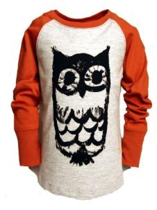 BOBO CHOSES Raglan owl shirt. clothes website for kids and babies