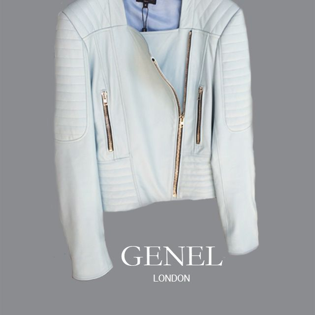 Pale blue leather essential for ss17 #genellondon #blueleather