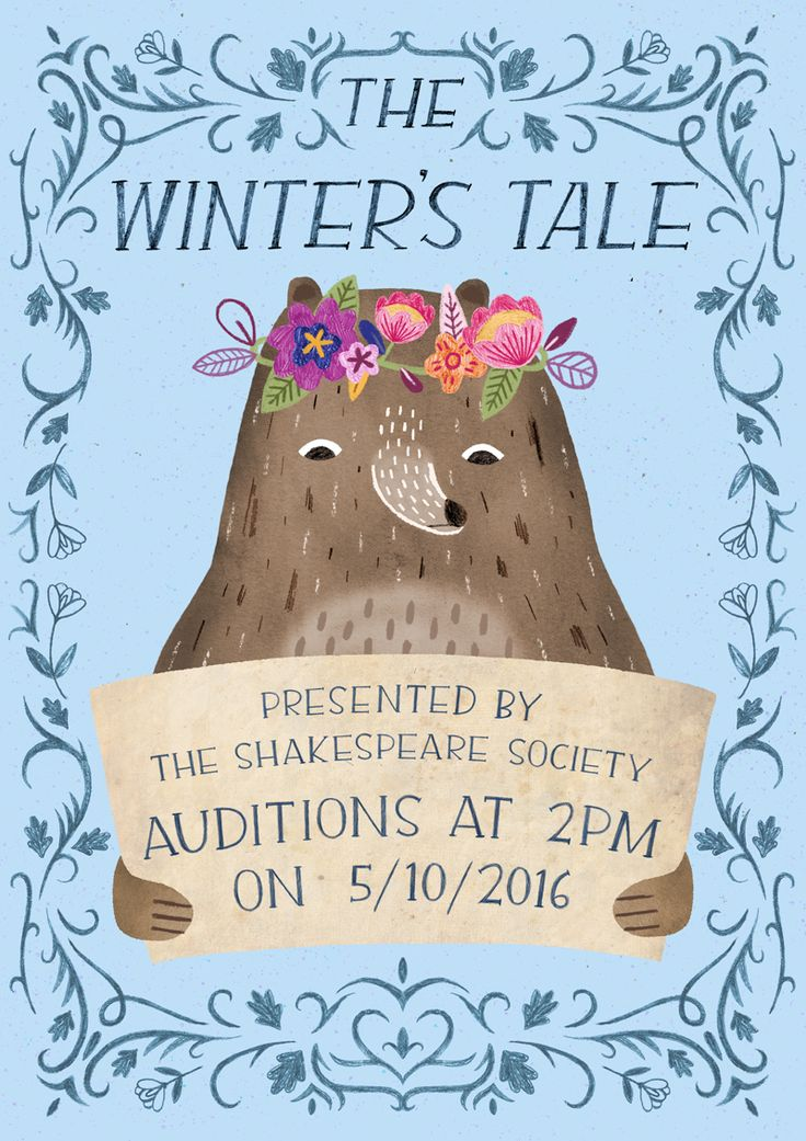 A poster for Loughborough University's Shakespeare Society for their production of the Winter's Tale