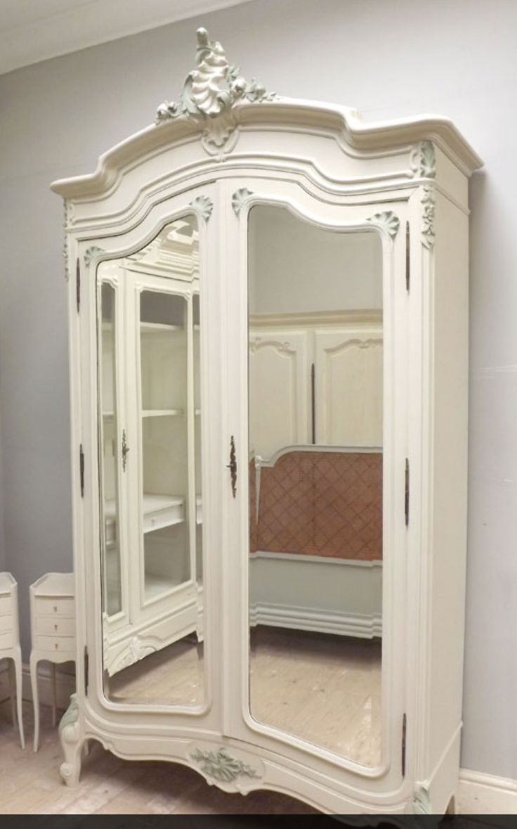 Antique Armoire, French Armoire, Cubby Houses, Shabby Chic Bedrooms, French  Antiques, Armoires, Paint Furniture, Bedroom Ideas, Rococo