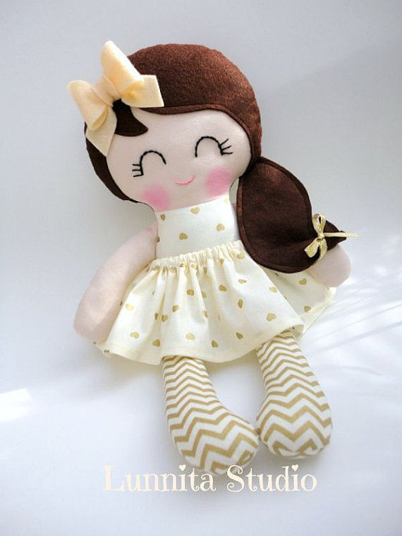 Handmade cloth doll,birthday gift,Ragdoll,Cloth doll,Fabric doll...Party dress..Eco-Friendly Doll... READY TO SHIP