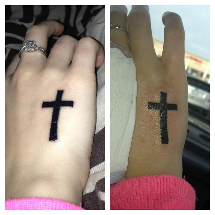 My simple hand cross tattoo Tattoos Skull tattoos