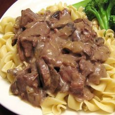 Pressure cooker beef Stroganoff. Very popular beef Stroganoff cooked in pressure cooker.Very easy and delicious! Ready in 20 minutes!