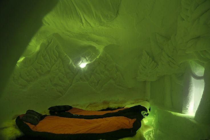 Iglú hotel en Andorra, habitación