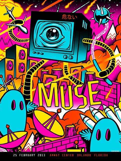 INSIDE THE ROCK POSTER FRAME BLOG: Munk One Muse Tour Poster Sets On Sale