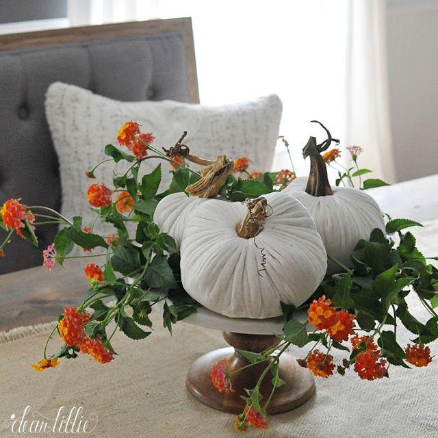 Love these velvet pumpkins from Love Feast Shop.