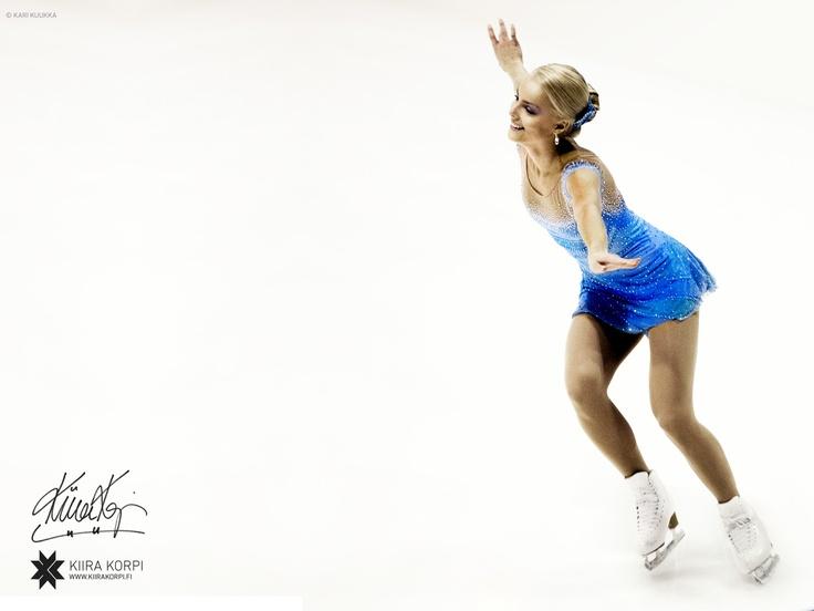 Kiira Korpi, young Finnish figure skater.  #Kiira #Korpi #skating #Finland #ice