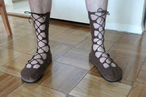 Tutorial - Ghillie Shoes for Your Renaissance Faire Costume