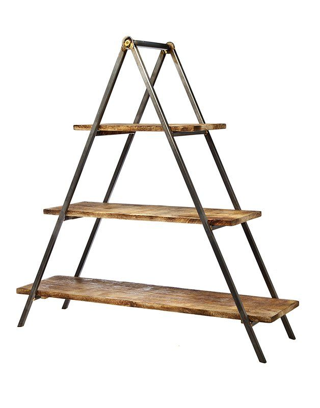 Tiered Stand Wood And Metal Tiered Stand Rustic Wood