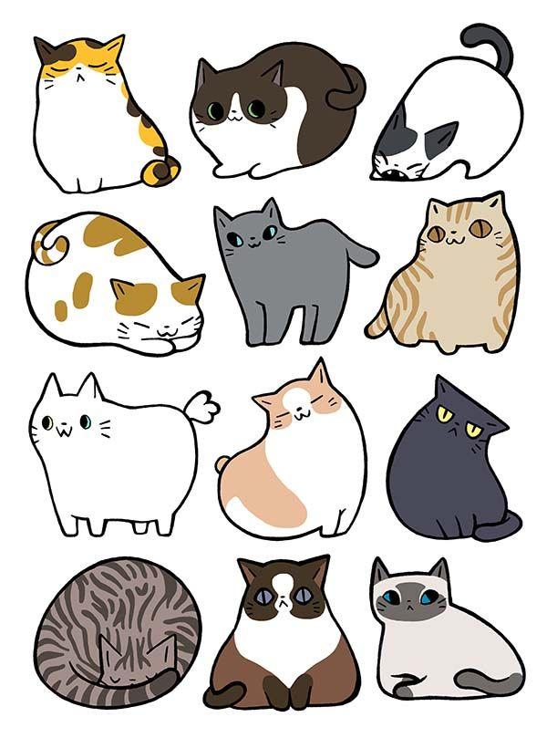Картинки котика стикеры