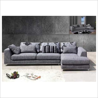 Modern Fabric L-Shape Lounge Suite Cooper