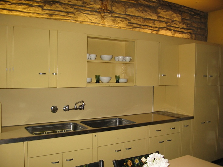 the kitchen inside the house falling water designed by frank lloyd wright favorite places. Black Bedroom Furniture Sets. Home Design Ideas