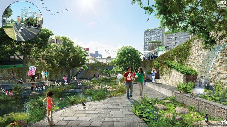 Resultado de imagen para parques lineales con rios