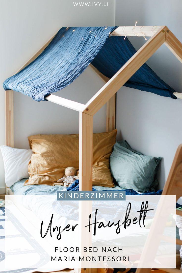 Hausbett | Floor bed nach Maria Montessori | Bodenbett | Kinderzimmer | Kinderbett | Babybett | Schlafen | ivy.li