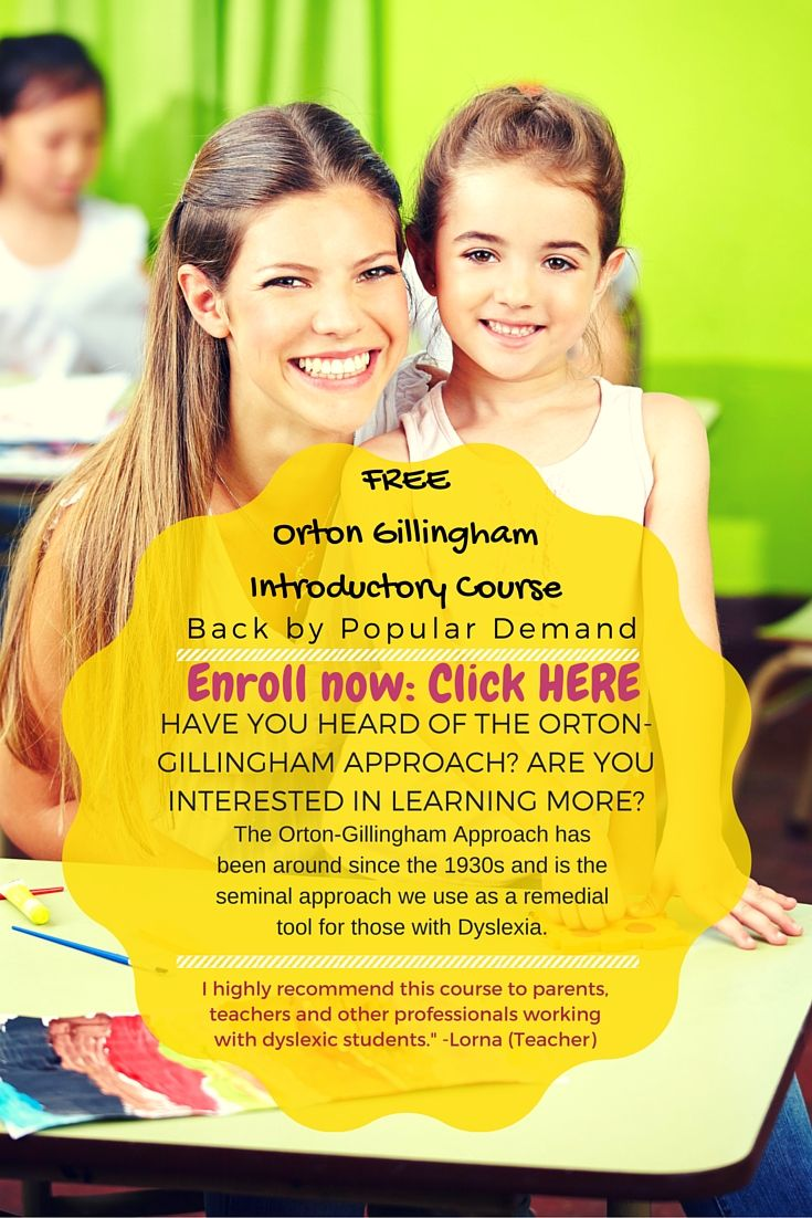 Free Orton Gillingham Introductory Course - Back by popular demand!