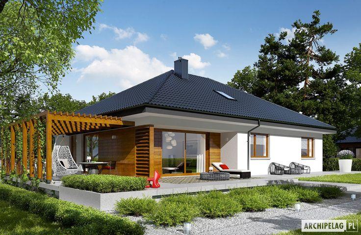 навес Projekty domów ARCHIPELAG - Astrid G2
