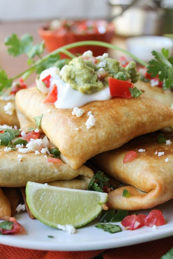 Chicken, Tomatillo, and Chipotle Chimichangas from The Food Charlatan