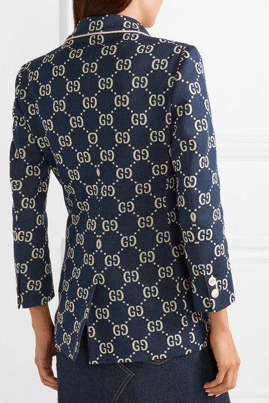 fce1fd9b4 Gucci | Blazer de algodón jacquard con aplicación | NET-A-PORTER.COM ...