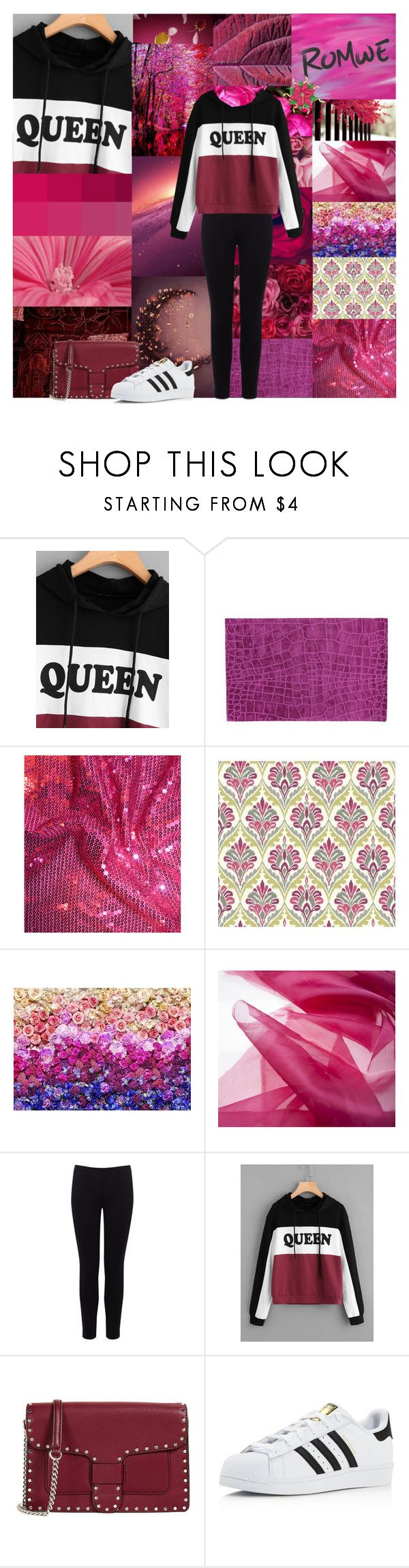"""""""Drama Queen"""" by kailey-muter ❤ liked on Polyvore featuring York Wallcoverings, Komar, Warehouse, Rebecca Minkoff, adidas, drama, romwe, queen and Gossip"""