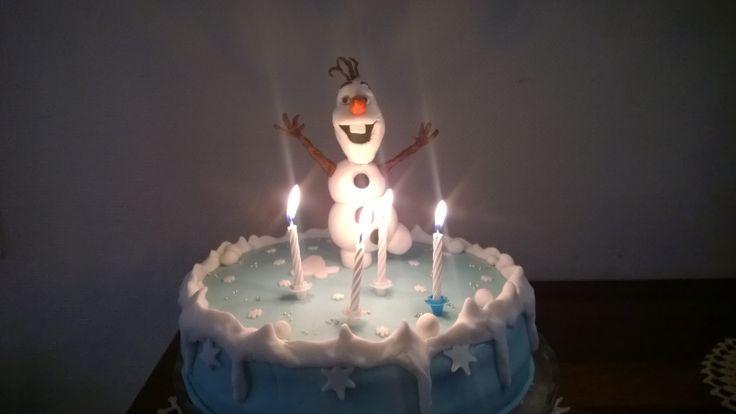 Olaf/ Frozen cake