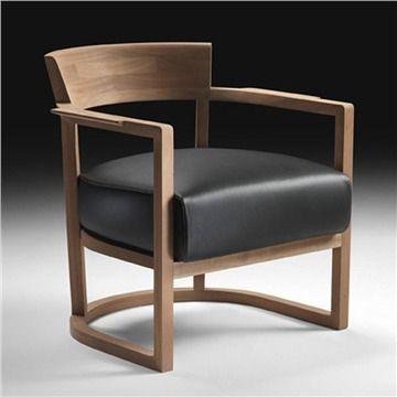 Flexform Barchetta Armchair - Style # 208x1, Modern Armchair - Contemporary White Armchair - Leather Armchair - Swivel Armchair | SwitchModern.com