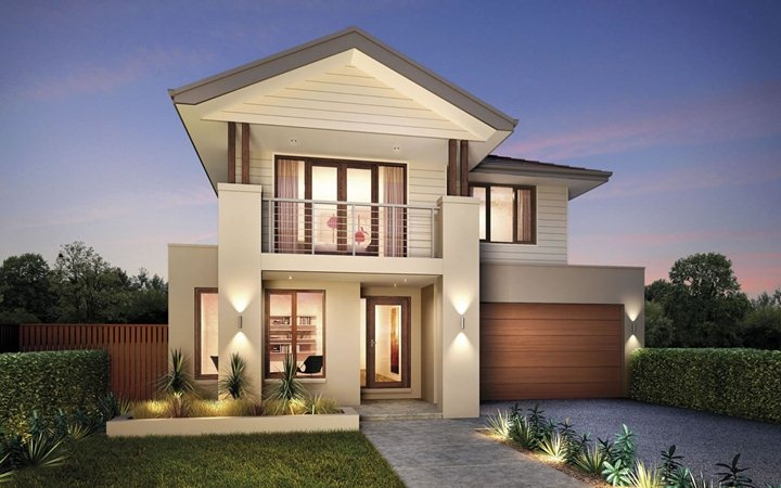 Metricon home designs the elysian coastal facade visit for Ideal house plan