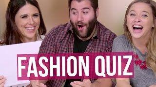 WHATS AN EAR JACKET? Guys Fashion Quiz (Beauty Break)