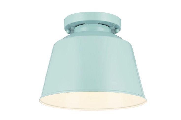 Murray Feiss OL15013SHBL Hi Gloss Blue Freemont 1 Light Outdoor Flush Mount Ceiling Fixture - LightingDirect.com