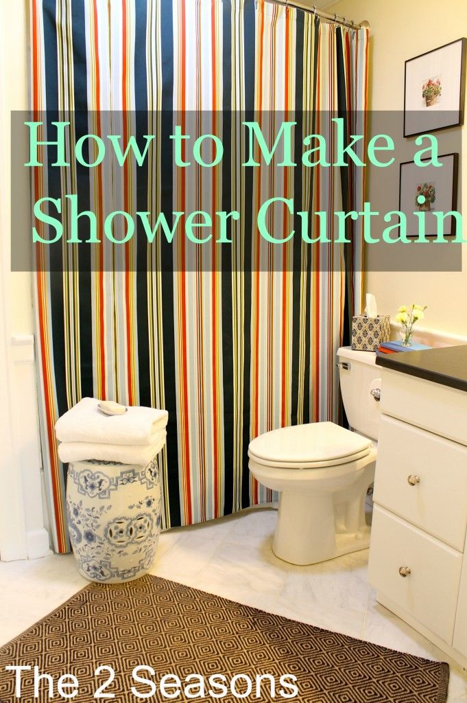 Spiff up your bathroom with a DIY shower curtain.  This post shows you how to make one that fits your space.