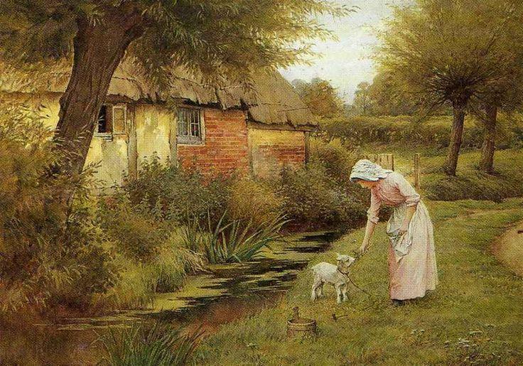 The Pet Kid ~ Charles Edward Wilson ~ (English: 1854-1941)