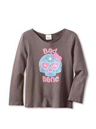 91% OFF Sweet Bazaar Girl's Bad To The Bone Sweatshirt (Charcoal)