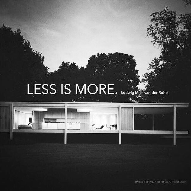 Farnsworth House designed by #Mies van der #Rohe in 1945 and constructed in 1951.