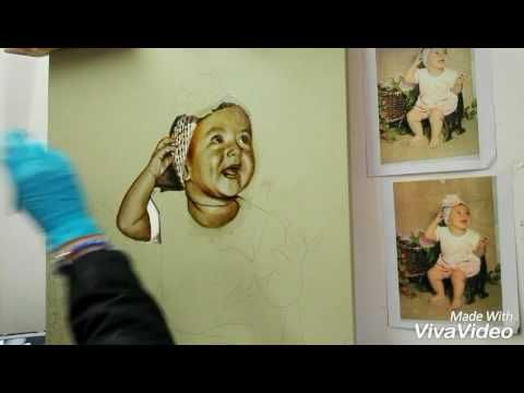 Pintura de Retrato en proceso 3 - YouTube
