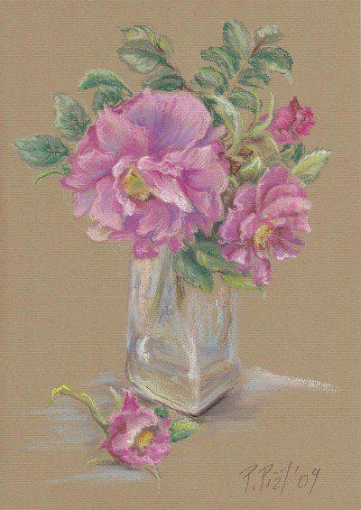Wild roses by Przemila Koscielna