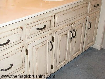 Verrryyyy Distressed Cabinets