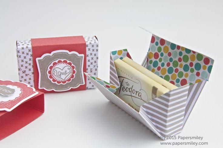 Schokoladen-Verpackung mit DSP Bunte Party von Stampin Up!