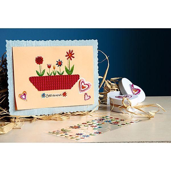 Kreatywne kartki DIY.  http://www.mojebambino.pl/naklejki/521-naklejki-wiosenne.html